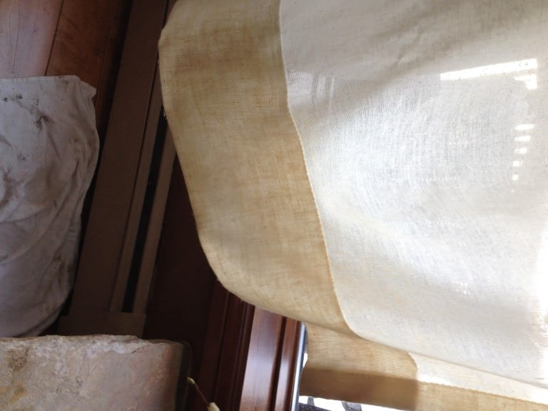 after photo of cleaning drapes