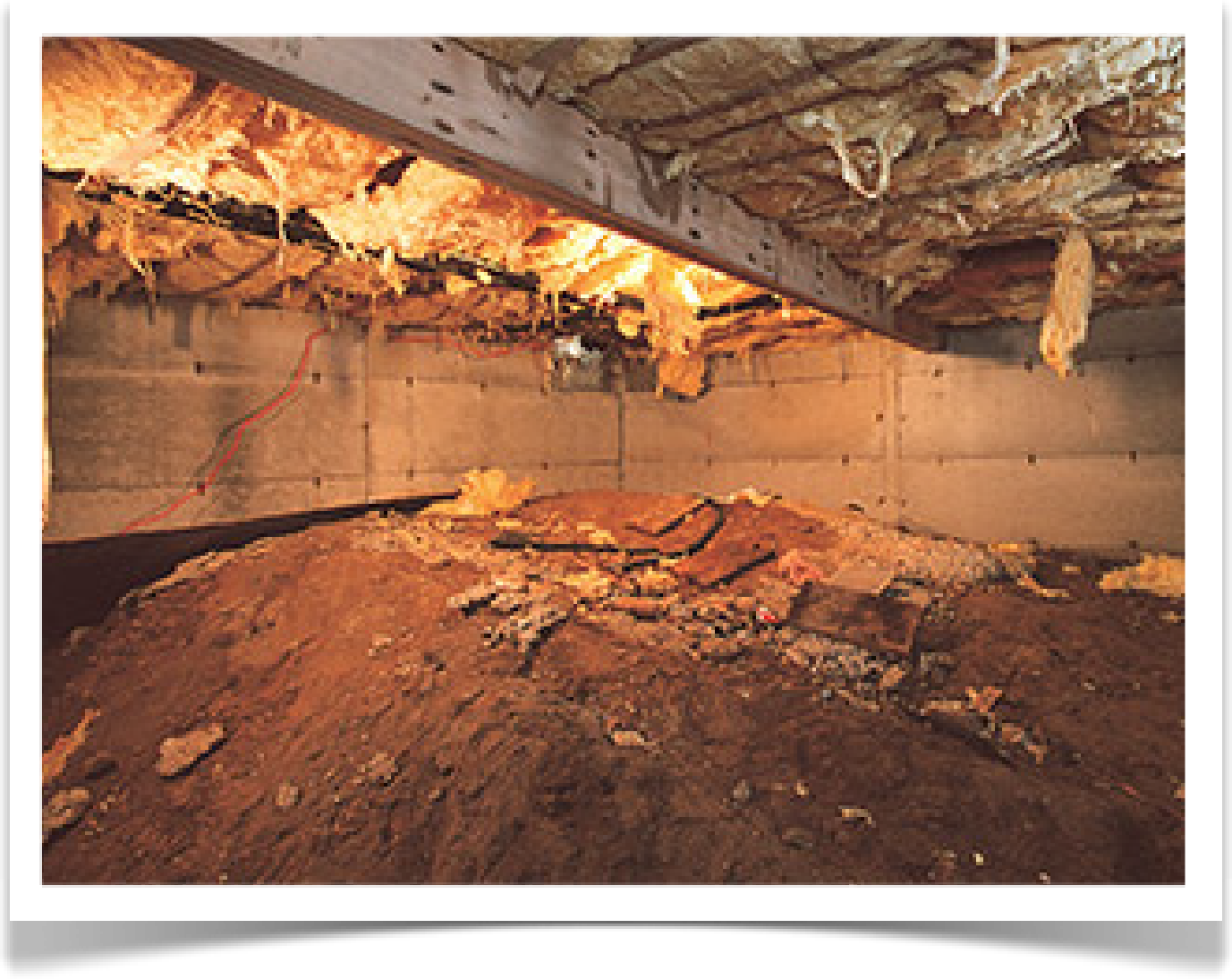 Crawlspace repair before