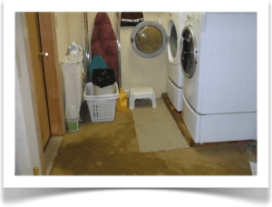 water damage in laundry