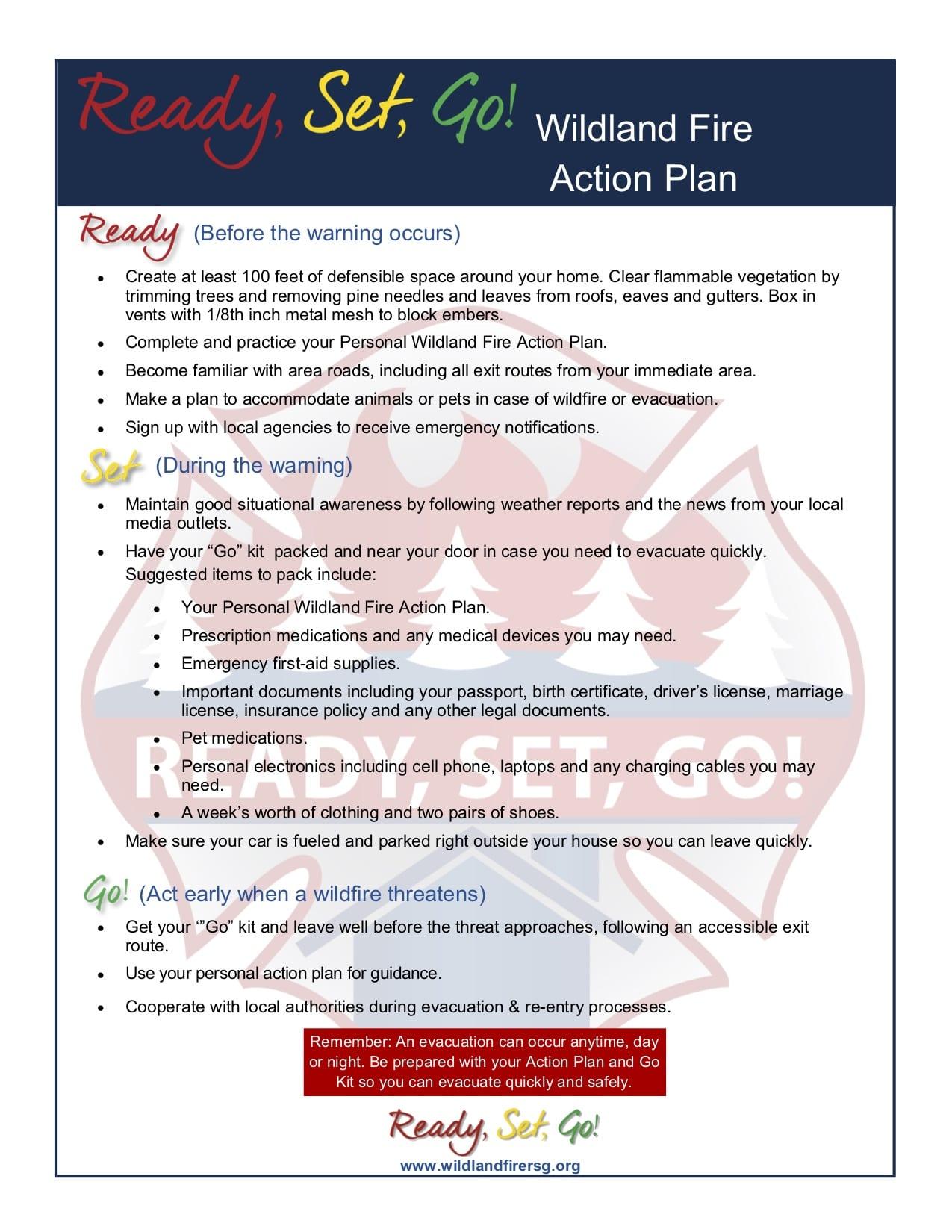 Wildland Fire Action Plan